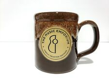 The Music Emporium Finely Crafted Guitars BROWN COFFEE MUG DENEEN POTTERY USA