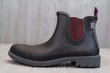 22 New Mens Ted Baker Ephai Black Maroon Fashion Waterproof Rain Boot Sz 10 - 13