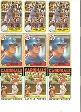 18 CARD DARRELL PORTER BASEBALL CARD LOT          93