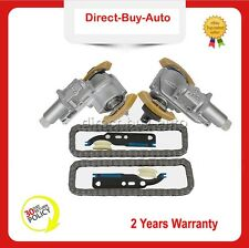 Pair For VW Passat AUDI A4 A6 2.7T 2.8 V6 Camshaft Timing Chain & Tensioner Kit