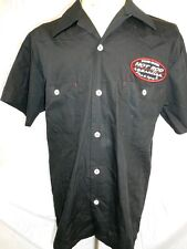 Route 66 Black Cotton Rockabilly Hot Rod Kustom Short Sleeve Gas Work Shirt S
