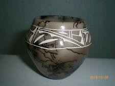 Horsehair Pottery, American Indian, Navajo Pot                          hhp7 gv