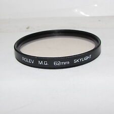 Used Rolev MG Skylight 62mm Lens Filter Made in Japan O30458