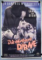 Kino Film Plakat Die ehrbare Dirne J. P. Sartres 1953 DIN A 1 Poster