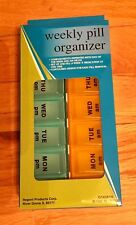 7 DAY AM PM Pill Box Organizer Case -Travel Home Medicine Vitamins NEW