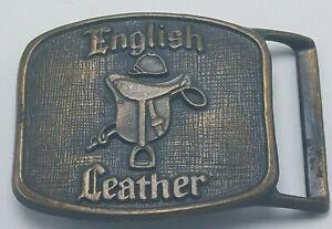 English Leather Vintage Men's Brass Belt Buckle Saddle Excellent Condition