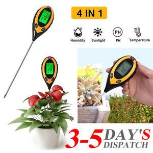 UK. Garden Soil Tester 4In1 Digital LCD Temperature Moisture Sun PH Meter Tester