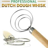 The Original Danish Dough Whisk - LARGE Stainless Steel Dutch Whisk