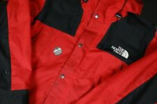 FW18 Supreme x The North Face Waxed Red Leather Mountain Parka Jacket Size L