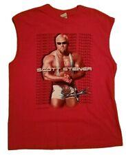 1998 WCW Scott Steiner Red Sleeveless Wrestling T Shirt Size XL