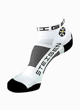 White Quarter Length Performance Running and Cycling Socks