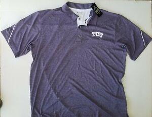 TCU Texas Christian Polo Champion Solid Purple Polo Men's Size 2XL