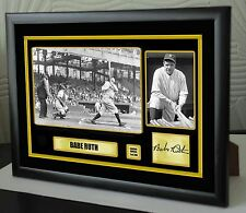 """Babe Ruth Baseball """"The Babe"""" Framed Canvas Portrait Signed """"Great Gift"""""""