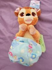 """Disney Parks Bambi Baby Plush with Blanket Pouch 10"""" Babies New with Tags"""