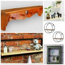 Wall Storage Shelves Wood Metal Shelving Cube Hanging Coat door hanger Hook Rack