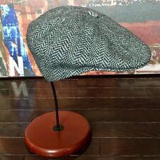 Kangol Tweed Wool Newsboy Hat Flat Cap Made in the UK Cabbie Sz Medium