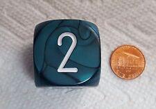 """KOPLOW'S BACKGAMMON DOUBLING CUBE PEARL *GREEN* - 30mm (1 1/8"""") MEAN & GREEN"""