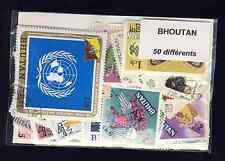 Bhoutan - Bhutan 50 timbres différents oblitérés
