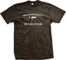 What Gives Me The Right? Constitution Gun Owner Pistol 9mm Arms US Men's T-Shirt