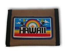 NOS Vintage Wallet Billfold Nylon Hawaii Rainbow