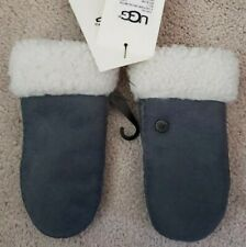 UGG Grey Sheepskin Gloves Mittens for Kids SIZE 2 ~ 4 years