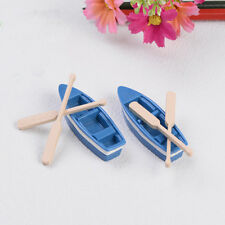 2 Set Boat Miniature Figurine Garden Ornament Plant Fairy Decor Craft Best HV