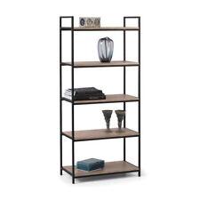 Tribeca Wood and Metal Modern Five Shelf Tall Bookcase