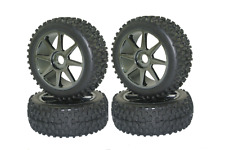 Set 4Pcs Tyre Tires&Wheel Rim 17mm Hex For Kyosho MP9 1:8 RC Buggy Off-Road Car