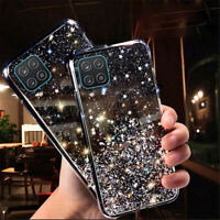 For Samsung Galaxy A12 Shockproof Glitter Crystal Soft TPU Case Cover