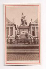 Vintage CDV Colocar Des Martyrs, Bruselas Bélgica Figura Patria
