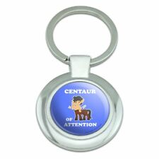 Centaur Center of Attention Funny Humor Classy Round Plated Metal Keychain
