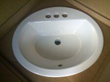Nib Nice Kohler 2699-4-96 Bathroom Biscuit-Color Top-Mount Vanity Sink
