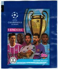 Argentina Version 2017-2018 Topps EUFA Champions League Soccer sticker Pack