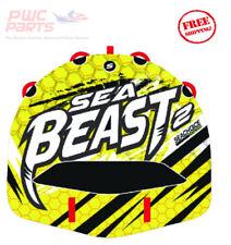 "SEACHOICE SEA BEAST 2 Rider Deck Towable Tube 60"" x 56"" Tuff Shell EVA PVC 86921"