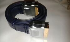 2 x High Quality Flat Scart Lead Cable With Gold Plated OFC Metal Case    #VID26