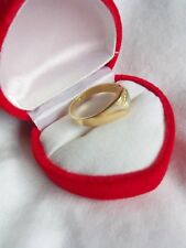 Beautiful Hallmarked 9 ct Yellow Gold Signet Ring, Size P / Q , 3.2 g