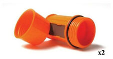 2 UCO Orange Stormproof Waterproof Match Cases with 3 Strikers #MT-EMPTY-CASE