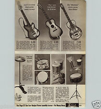 1967 PAPER AD Monkee's Rock Band Group Toy Play Guitar Ideal Peanuts Comic Drum
