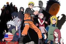 "Naruto Uchiha Sasuke Kakashi Sakura 36"" x 24"" Large Wall Poster Print Anime #86"