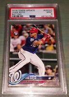 Juan Soto 2018 Topps Update #US300 Batting Rookie RC PSA 9 MINT 💣🔥💣🔥