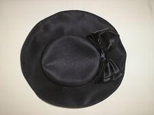 Gorgeous Black Bow Ribbon Hat C&A 100% Polyester - Free P&P