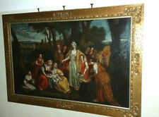 Large 17th Century Italian Biblical Judaica Painting, Moses from the Nile
