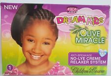 African Pride Dream Kids Olive Miracle No Lye Relaxer 1 Application Coarse