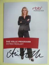 Astrid Frohloff - rrb Autogrammkarte (Fernsehmoderatorin)
