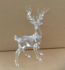 Pair 18cm Acrylic Reindeer's Christmas Decorations / Figures OFFER!