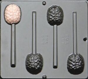 Human Brain Lollipop Chocolate Candy Mold Halloween 967