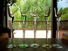 (5) CORDIAL APERITIF GLASSES STUART CRYSTAL IONA/ARIEL DOUBLE AIR TWIST IN STEM