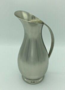 """Vintage Royal Holland Pewter Daalderop 10"""" Pitcher/Vase Handcrafted Tiel Holland"""