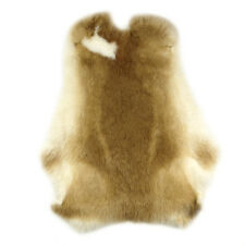 Genuine Naturally Rabbit fur skin tanned Leather Hides craft Brown Pelts