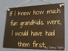 If I Knew How Much Fun Grandkids Were Shabby Rustic Grandparents Wooden Sign